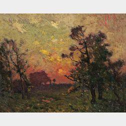 William Jurian Kaula (American, 1871-1953)      Sunset in Normandy