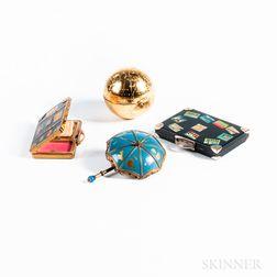 Four Vintage Figural Compacts