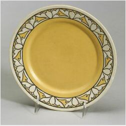 Saturday Evening Girls Pottery Lotus Blossom Plate