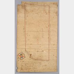 Land Survey Map of Boston Cabinet Maker Stephen Badlam