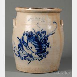 J. Norton, Cobalt Blue Decorated Wide-mouth Jar