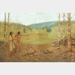 Edwin Willard Deming (American, 1860-1942)      The Archery Lesson