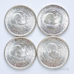 Four Washington-Carver Commemorative Half Dollars