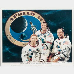 Apollo 14, Prime Crew, Autopen Signed Lithograph.