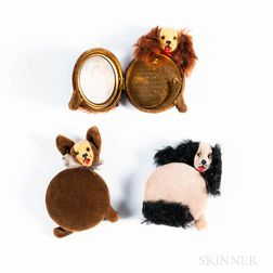 Three Shucco Velvet Dog Compacts