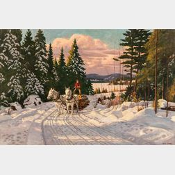 Thomas Albert Stone (Canadian, 1897-1978)      Logging Team near Sand Lake