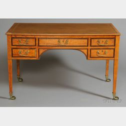 Regency Satinwood and Mahogany Writing Table
