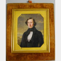 Pierre Daubigny (French, 1793-1858)    Portrait of Samuel Cabot Jr. of Boston (1784-1863)