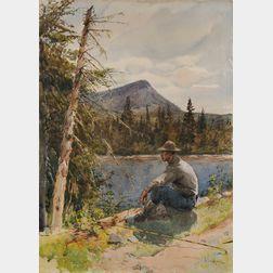 Henry Sandham (Canadian, 1842-1912)      Fisherman's Respite