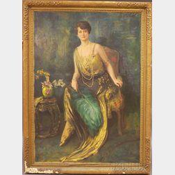 Robert Heinrich Freiherr von Doblhoff (Austrian, 1880-1960)      Portrait of Mrs. Albert Washburn.