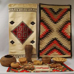 Group of Baskets and Weavings