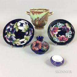Five Moorcroft Pottery Items