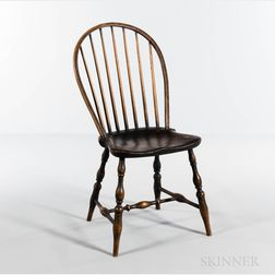 Near Pair of Bow-back Windsor Side Chairs