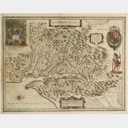 Map of Virginia, (North America, Virginia)