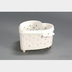 Neiderville Faience Coeur-de-Creme Dish