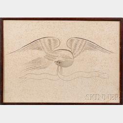 Framed Calligraphic Eagle