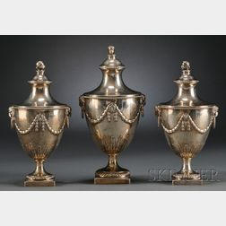 Set of Three George III Silver Sauce Tureens