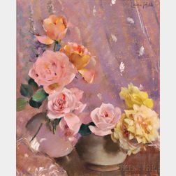 Laura Coombs Hills (American, 1859-1952)      Pink and Yellow Roses