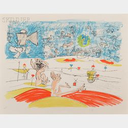 Attributed to Roberto Matta (Chilean, 1911-2002)      Plate 5   from FOG GOG MAGOG