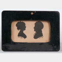 Hollow-cut Silhouette Portraits of a Man and a Woman