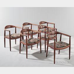 Six Hans Wegner Dining Chairs