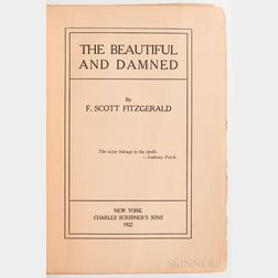 Fitzgerald, F. Scott (1896-1940) The Beautiful and the Damned  , First Edition, Ex Libris Sheilah Graham.