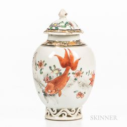 Chinese Export Covered Vase