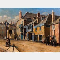 Herbert Truman (British, 1883-1957)      St. Ives, Cornwall, Street View.
