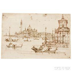 Manner of Francesco Guardi (Italian, 1712-1793)      View Toward San Giorgio Maggiore, Venice