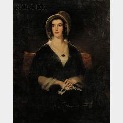 John Watson Gordon (Scottish, 1788-1864) Portrait of Miss Elizabeth Mack, also known as Mrs. Thomas Hender...