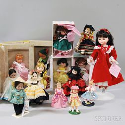 Fifteen Mostly Madame Alexander and Effanbee Dolls and Collectible Figurines