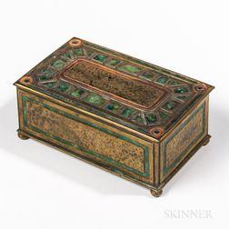 Tiffany Furnaces Bronze and Enamel Box