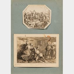Two Drawings:      Attributed to Baldassare Calamai (Italian, 1787-1851), Allegorical Scene