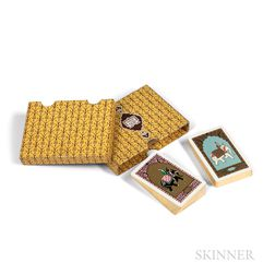 Double Deck of Art Deco Cartier Playing Cards in Slipcase