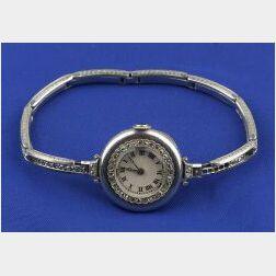 Lady's Edwardian Platinum and Diamond Watch