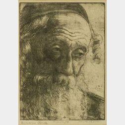Lot of Four Works on Paper:  Leon Golub (American, b. 1922), The Old Salt