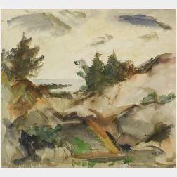 Edwin Booth Grossman (American, 1887-1957)  Distant Coast