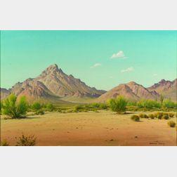 Norman Henry Yeckley (American, 1914-1994)    Desert View