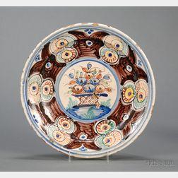 Continental Tin Glazed Earthenware Dish