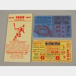 1940s Boston Braves and Boston Red Sox Memorabilia