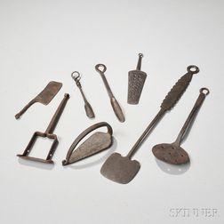 Collection of Iron Kitchen Utensils