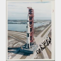Apollo 14 Rollout, Color Photograph Signed by Ed Mitchell.