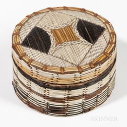 Micmac Quilled Birch Bark Box