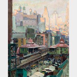 Abel George Warshawsky (American, 1883-1962)      New York, Evening Light