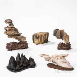 Five Desktop Scholar's Stones
