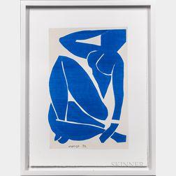 After Henri Matisse (French, 1869-1954)      Four Framed Prints: Blue Nude I ,  Blue Nude II ,  Blue Nude III
