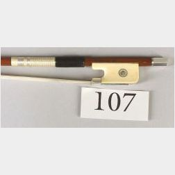 French Silver and Ivory Mounted Violin Bow, Roger Francois Lotte