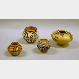 Four Southwest Native American Paint Decorated Pottery Jars