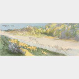 Jacques Villon (French, 1875-1963)      La propriété de Vergile sur les bords du Mincio