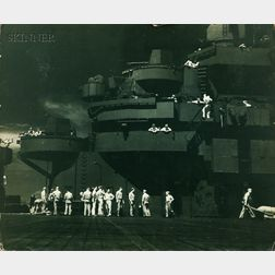 Edward Steichen (American, 1879-1973) Lot of Five U.S. Navy Images from the U.S.S. Lexington during World War II: Hellcat Goes Thunderi